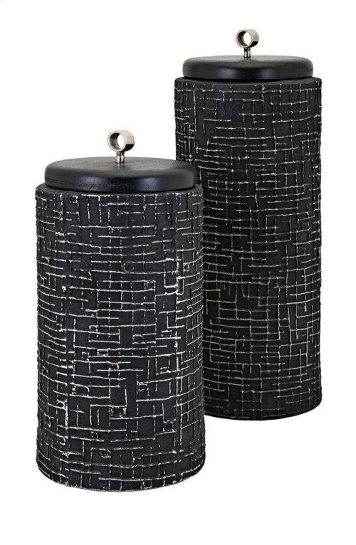 Hasan Large Lidded Vase