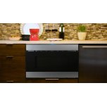 Sharp Appliances 24 In. 1.2 Cu. Ft. 950w Sharp Stainless Steel Easy Wave Open Microwave Drawer Oven
