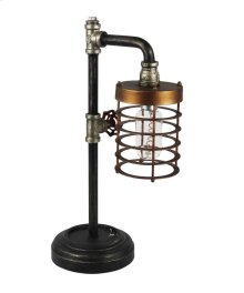 Metal Pipe Table Lamp