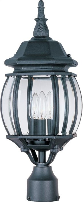 Crown Hill 3-Light Outdoor Pole/Post Lantern