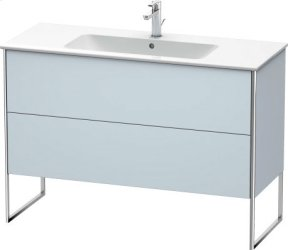 Vanity Unit Floorstanding, Light Blue Satin Matt Lacquer