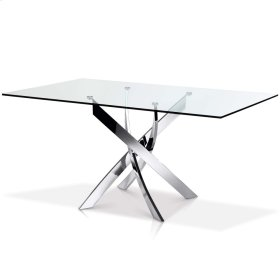 Ellis Round Glass Top Dining Table