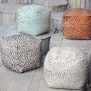 Valda Pouf, Aqua Product Image