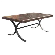 Bengal Manor Iron and Acacia Wood Diamond Pattern Rectangle Cocktail Table