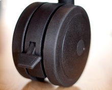 Archetype Dual Wheel Casters, Set of 4, Black