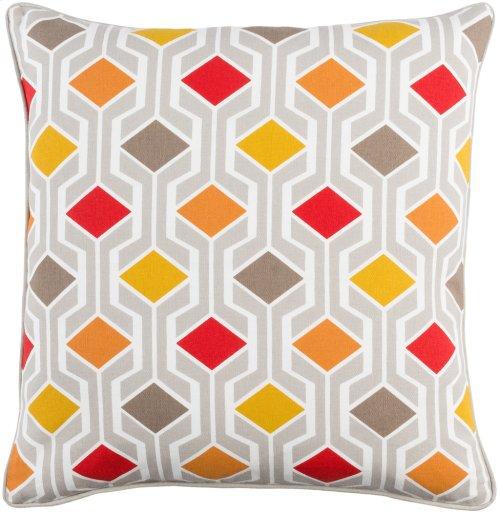 "Inga INGA-7030 18"" x 18"" Pillow Shell with Polyester Insert"