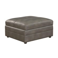 Ellington Transitional Grey Ottoman