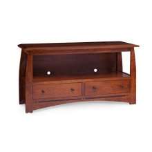 """Aspen 2-Drawer Open TV Stand with Inlay, 60"""""""