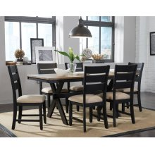 Leg Table and 6 Side Chairs