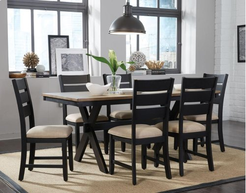STANDARD 12800-12802 Braydon Table and 6 Side Chairs