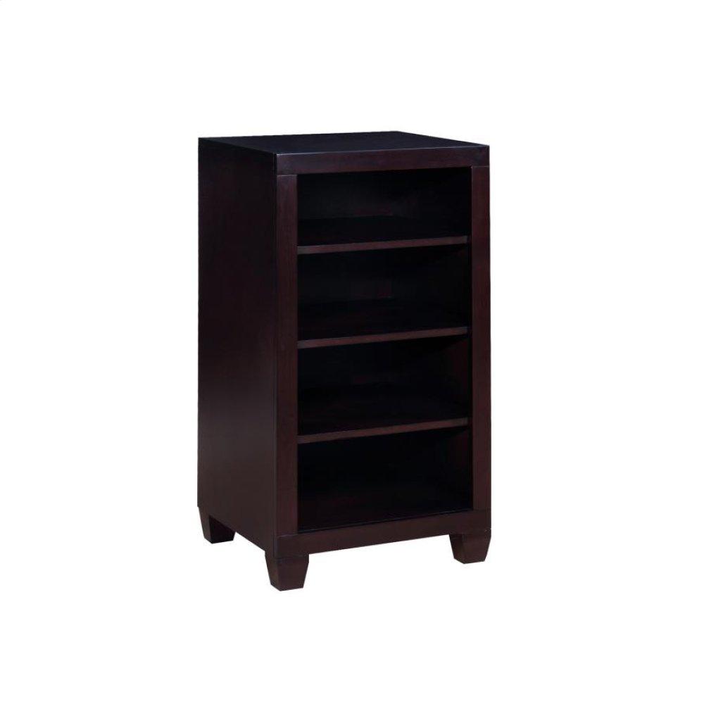 Danville Cappuccino Four-tier Bookcase