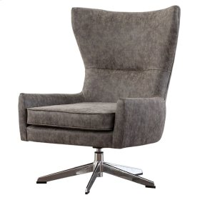 Arya KD PU Swivel Chair, Kalahari Gray