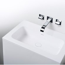 "series 600 blustone™ vanity top, 1/2"" thick, White gloss 23 3/4"" x 20 1/4"""