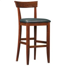 Counter Stool Upholstered Back Seat Height 26, Cherry Fleming Stool