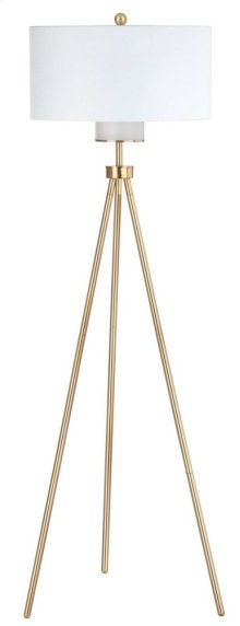 Enrica 66-inch H Floor Lamp - Brass / Gold Shade Color: Off-White