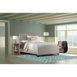 Kerstein Bed Set - Full - Rails Included - Dove Gray