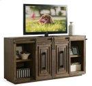 Modern Gatherings 72-Inch Sliding Door TV Console Brushed Acacia finish Product Image