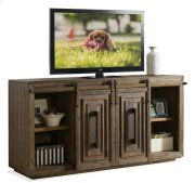 Modern Gatherings 72-Inch Sliding Door TV Console Brushed Acacia finish Product Image