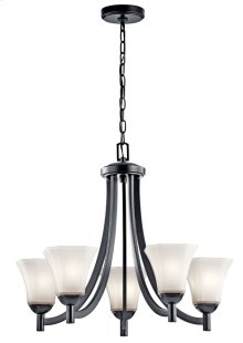 Serina 5 Light Chandelier Black
