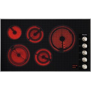 MieleKM 5627 208V Electric cooktop 36 1/8 (915) wide for extremely convenient cooking.