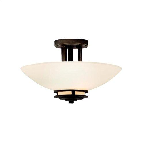 Hendrik Collection Hendrik 2 Bulb Semi Flush Ceiling Light - NI