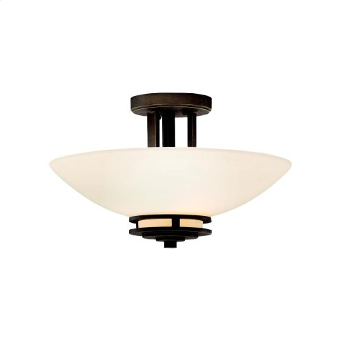 Hendrik Collection Hendrik 2 Bulb Semi Flush Ceiling Light - OZ