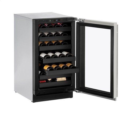 """Modular 3000 Series 18"""" Wine Captain® Model With Stainless Frame (lock) Finish and Left-hand Hinged Door Swing"""