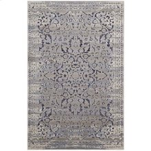 Margarida Distressed Vintage Turkish 8x10 Area Rug in Blue and Cream