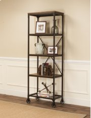 Sunset Trading Rustic Elm Industrial 4 Shelf Bookcase Product Image