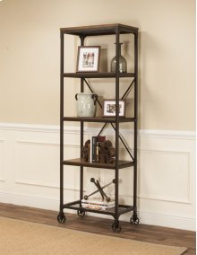 Sunset Trading Rustic Elm Industrial 4 Shelf Bookcase - Sunset Trading