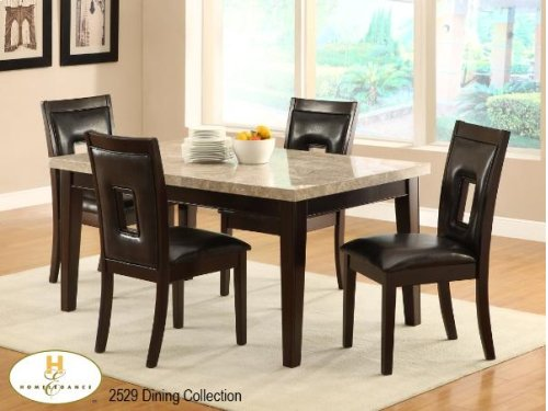 Dinette Table with Ivory Marble Top