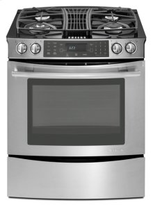 Stainless Steel Jenn-Air® Slide-In Gas Downdraft Range with Convection, 30""