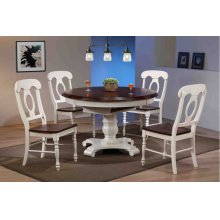 DLU-ADW4866-C50-AW5PC  5 Piece Butterfly Leaf Dining Set  Napoleon Chairs