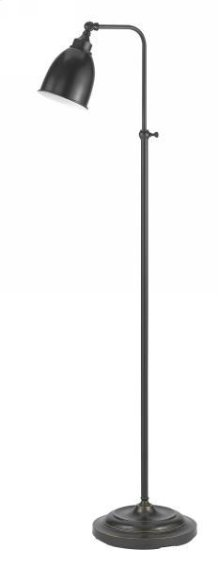 60W metal pharmacy floor lamp w/adjustable pole & swivel head (takes CFL bulb)