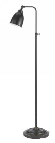 60W metal pharmacy floor lamp w/adjustable pole & swivel head (takes CFL bulb)