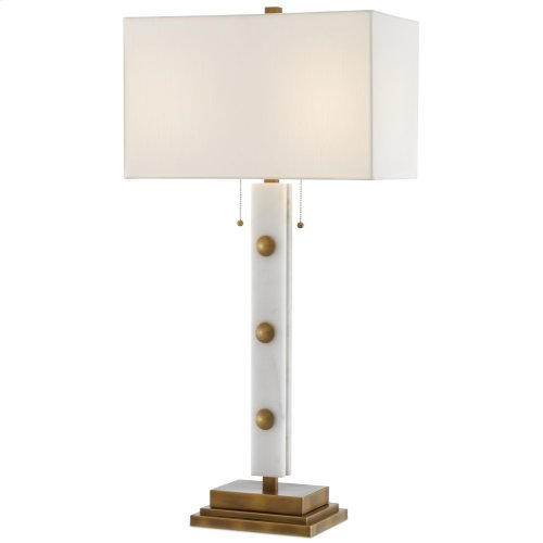 Khalil White Table Lamp