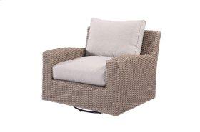 Emerald Home Reims Swivel Glider Lounge Chair Spuncrylic Brick Grey Ou1207c-06-09