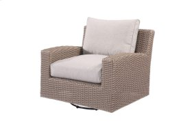 Emerald Home Reims Swivel Glider Lounge Chair Spuncrylic Brick Grey Ou1207c-06-09