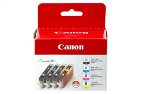 Canon CLI-8 Black, Cyan, Magenta & Yellow 4 Ink Pack CLI-8 Color 4-Pack