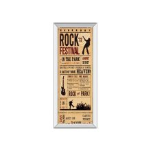 Rock Festival By the Vintage Collection (mirrored Frame)