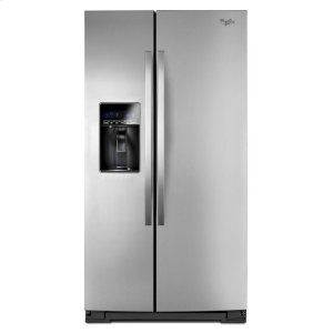 26 cu. ft. Side-by-Side Refrigerator with Tap Touch Controls - MONOCHROMATIC STAINLESS STEEL