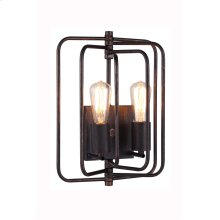 """1454 Lewis Collection Wall Lamp W:10"""" H:13"""" E:6"""" Lt:2 Dark Bronze Finish"""