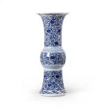 Ainsley Ku Form Vase, Blue & White