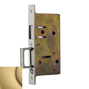 Satin Brass and Brown 8603 Pocket Door Strike with Pull
