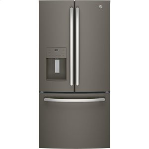 GE® ENERGY STAR® 17.5 Cu. Ft. Counter-Depth French-Door Refrigerator - SLATE