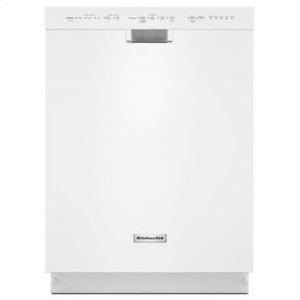 KitchenAid24'' 6-Cycle/5-Option Dishwasher, Pocket Handle - White