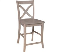 Salerno Stool Weathered Gray Product Image