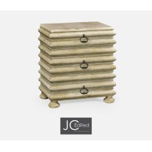 Rectangular Limed Acacia Chest of Drawers