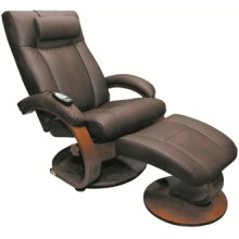2 PC Massage Recliner W/ottoman