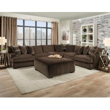 1600 - Ultimate Chocolate 4-Piece Sectional